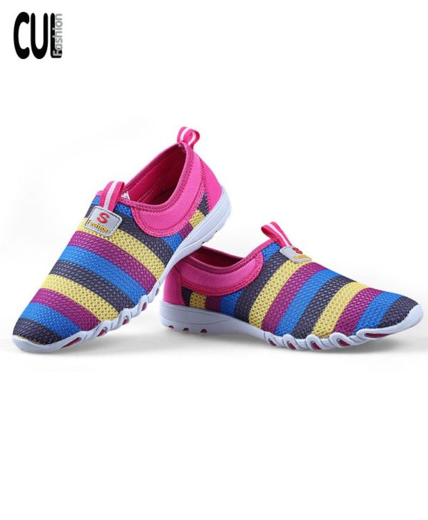 Giày Thể Thao Casual Kẻ Sọc