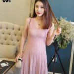 Đầm Xếp Li Cổ V
