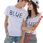 SET áo thun nam - Đầm nữ BLUE