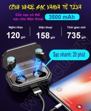 Tai Nghe Bluetooth Asonic X9 Plus - Sạc Dự Phòng